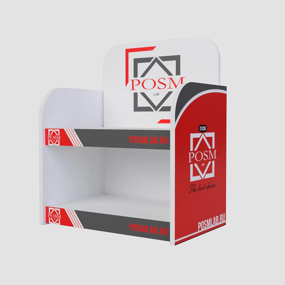 Производство рекламных стоек из картона от 1 штуки